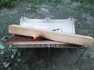 焚き火台として